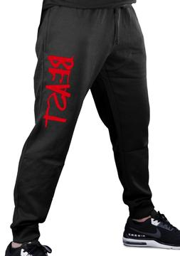 Men's Red Beast Jogger Training Pants Active Sweatpants Gym