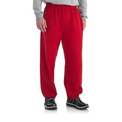 Fruit of the Loom Men's Red Elastic Bottom Sweatpants Size L