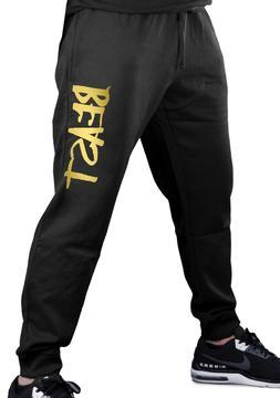 Men's Reflective Gold Beast Jogger Training Pants Sweatpants