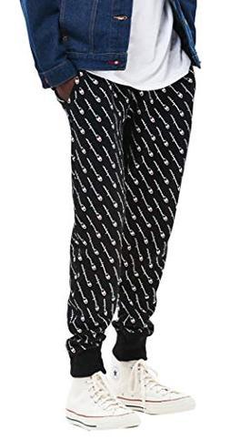 Champion LIFE Men's Reverse Weave Jogger-Print, Diagonal Scr
