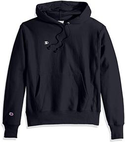Champion LIFE Men's Reverse Weave Pullover Hoodie, Navy/Left