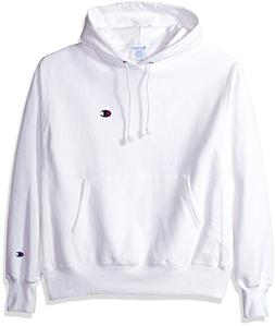 men s reverse weave pullover hoodie white