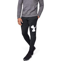 Under Armour Men's Rival Fleece Logo Jogger, Black /White, X