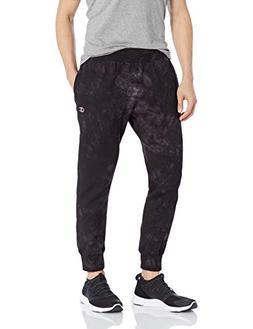 Champion LIFE Men's Scrunch Dye Reverse Weave Jogger, Black,
