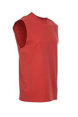 Fruit of the Loom Men's Sleeveless Tee True Red 2XL
