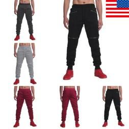 Men's Slim Fit Casual Pencil Joggers Trousers Sweatpants Lon
