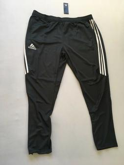 adidas Men's Soccer Tiro 17 Pants, Large, Dark Grey/White/Wh