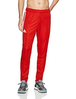 adidas Men's Soccer Tiro 17 Pants, Medium, Core Red /White