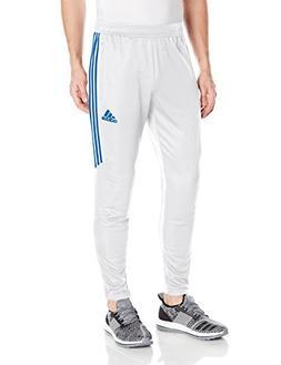 adidas Men's Soccer Tiro 17 Training Pants, White/Bluebird,