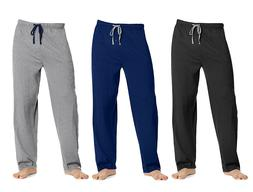 Hanes Men's Solid Knit Sleep Lounge Pant, in 3 Colors and al