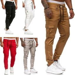 Men's Sport Pants Long Trousers Tracksuit Fitness Workout Jo