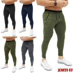 Men's Sports Pants Long Trousers Fitness Training Workout Jo
