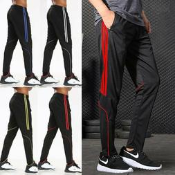 Men's Sports Track Pants Sweatpants Training Zipper Pocket J
