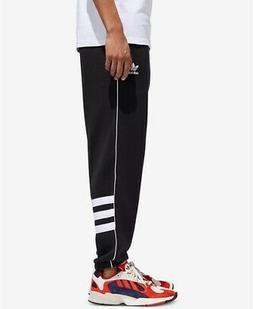 adidas Originals Men's Striped Sweatpants, Black/White, S