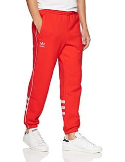 adidas Originals Men's Striped Sweatpants, hi/res red/White,