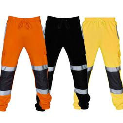 Men's Sweatpants Reflective Stripped Pants Tracksuit Work Ca