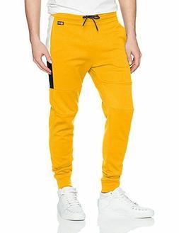 Southpole Men's Tech Fleece Basic Jogger Pants Yellow --XL