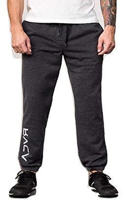 RVCA Men's VA Guard Fleece Sweatpant, Black, L