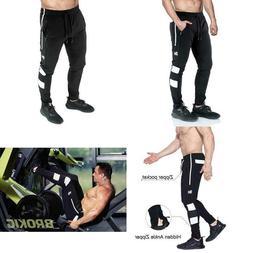 BROKIG Men's Vapour Gym Jogger Pants Slim Fit Workout Runnin