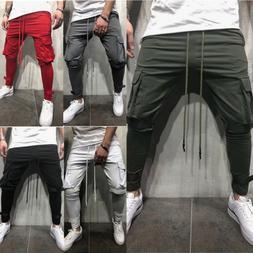 Men Slim Fit Joggers Pants Hip Hop Harem Casual Pencil Trous
