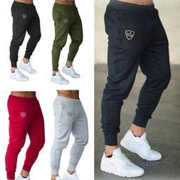 Men Slim Fit Tracksuit Sport Pants Gym Skinny Jogging Jogger