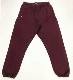 Men champion sweatpants solid  size LARGE 100%AUTHENTIC BURG