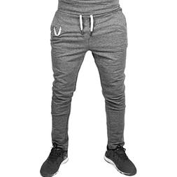 haoricu Men Sweatpants, Men Casual Sportswear Elastic Fitnes