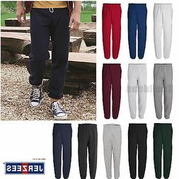 JERZEES Mens 50/50 NuBlend Fleece Sweatpants S M L XL 2XL 3X