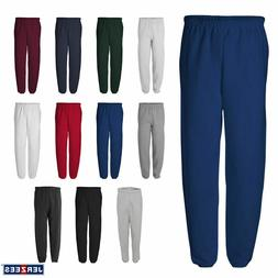 JERZEES Mens 50/50 NuBlend Fleece Sweatpants S-3XL - 973MR
