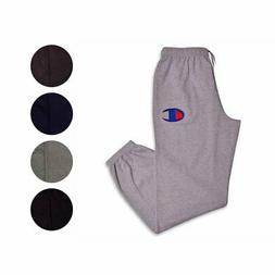 Champion Mens Big and Tall Fleece Logo Lounge Workout Sweatp