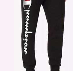 Mens Champion Black Joggers Nwt Logo On Side Large Sweatpant