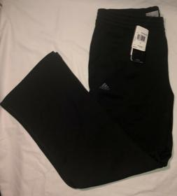 Adidas Mens Black Sweatpants Black Stripped Size L New With