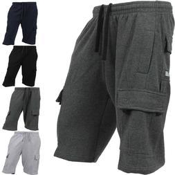PROCLUB Mens CARGO SHORTS Fleece SWEATPANTS 6 Pockets Basic