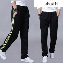 Mens Casual Sportswear Pants Sport Workout Loose Elastic Clo