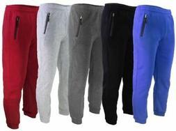 JOGGERS SWEATPANTS MEN'S CASUAL SLIM-FIT FLEECE PANTS WITH Z