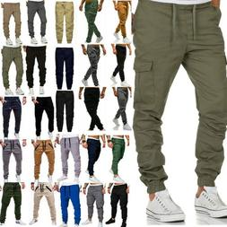 men casual trousers joggers cargo combat sports