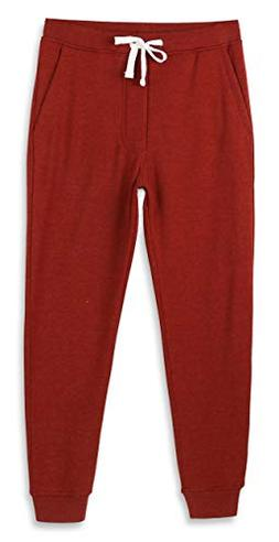 HETHCODE Mens Classic Fit Basic Fleece Closed-Bottom Pockete