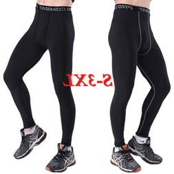 Men's Compression Pants Base Under Layer Sports Apparel Long