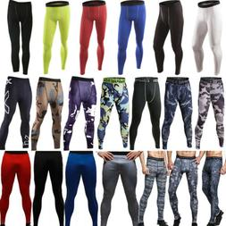 Mens Compression Trousers Base Under Layer Pants Long Leggin