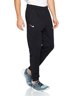 NIKE Mens Dri-Fit Tapered Fleece Sweatpants Black/White 8603