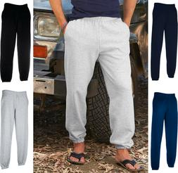 Fruit Of The Loom Mens Elasticated Cuff Jog Pants / Jogging