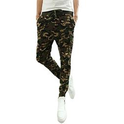 SCSAlgin Mens Fashion Camouflage Trousers Men Pants Casual P