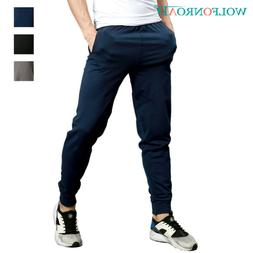 Mens Fitness Gym Pants Joggers Sweatpants Athletic Trousers
