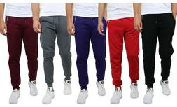Mens Fleece Jogger Sweatpants Slim Fit Premium Cotton Blend