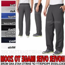 Mens Core Fleece Open Bottom Sweat Pants with Pockets Poly C