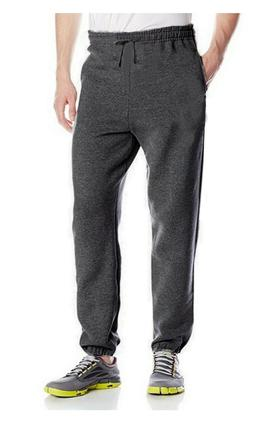 Russell Athletic Mens Fleece Open Bottom Sweatpants Charcoal