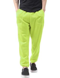 Hat and Beyond Mens Fleece Sweatpants Lightweight Elastic Jo