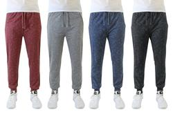 Mens French Terry Jogger Sweatpants With Zipper Pockets Marl