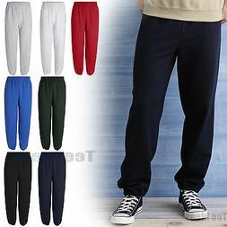 Gildan Mens Heavy Blend Sweatpants  No Pockets S-2XL 18200