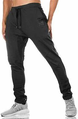 BROKIG MensJogger Sport Pants,Casual Zipper Gym Workout